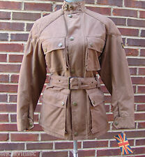 BELSTAFF AUTHENTIC $870.00 WOMENS TRIALMASTER WAXED COTTON CANVAS JACKET SIZE 42