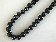 "18"" BLACK FRESHWATER PEARL NECKLACE GIFT POU BIRTHDAY CHINESE WEDDING PARTY A3"