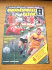 13/04/1985 Scottish Cup Semi-Final: Motherwell v Celtic [At Hampden Park] (Folde