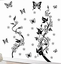 Butterflies Tree  Removable Wall Decal 4 home or office
