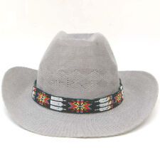 NEW RED GREEN WHITE NATIVE STYLE INSPIRED BEADED COWBOY FASHION HATBAND H18/13