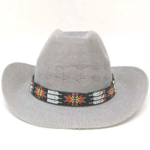 NATIVE STYLE INSPIRED BEADED COWBOY NEW RED GREEN WHITE FASHION HATBAND H18/13