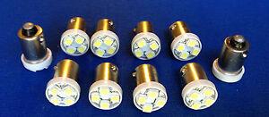 10 Ford *BRIGHT White 12V LED Instrument Panel Bayonet 1815 Light Bulbs 1895 NOS