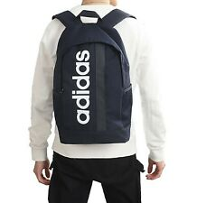 Adidas LINEAR Core Backpack Bags Navy School Casual Sports GYM Travel Bag FM6779
