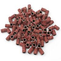 100pz Scovolini Abrasivi Ricambio Per Fresa Unghie Nail Art Grit Lima 8mm Dia.