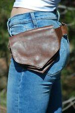 Leather Waist Pack, Festival Belt Bag, Women Fanny Pack, Brown Hip Bag Men