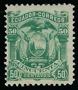 1881 ECUADOR  50c COAT OF ARMS MINT STAMP SCOTT 17