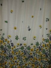 TARGET THRESHOLD BLUE YELLOW GREEN FLORAL (1) FABRIC SHOWER CURTAIN 70 X 69