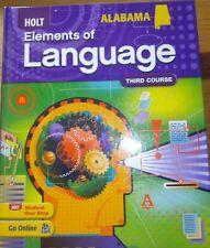Holt Elements of Language 3rd Course Alabama Student Ed 2009 Gr 9  9780554019659