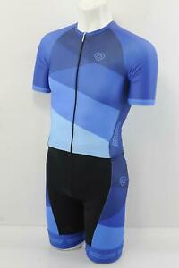Verge Men's 3XL Strike Carrera Speedsuit Short Sleeve Pro-Length Blue Brand New