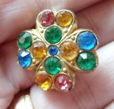 Crystal Glass Vintage Costume Brooches/Pins (1960s)