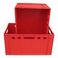 2 x E3 Eurofleischkiste, Eurokiste, Vorratsbox, Transportkiste, Stapelbox rot