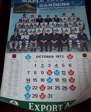 "Export ""A"" Toronto Maple Leaf Gardens 1972-73  Calendar NHL Hockey Team Canada 3"