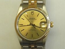 Rolex Tudor Prince OysterDate Two Toned Mens Watch.