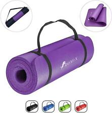 Non-Slip Yoga Mat 10-15mm Thick Floor Exercise Gym Pilates Fitness Workout