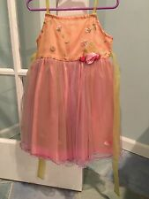C'est Chouette Couture SPRING GALA Pink Tulle Flower DRESS girls 4 4t Excellent