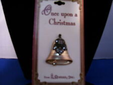 Christmas Pin Bell Metal with Intricate Raised Design By Roman Inc 3