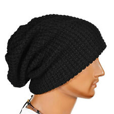 Men Women Knit Baggy Beanie Winter Warm Wool Ski Knitted Crochet Slouch Hat Cap