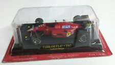 FERRARI F1-87 1987 Gerhard BERGER F1 FORMULE 1 N°28 rouge au 1/43 sous blister