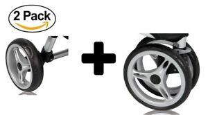 Baby Jogger City Mini Single 3 Complete Wheel Set, 2 Rear Wheels + 1 Front Wheel