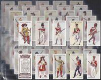 PLAYERS-FULL SET- REGIMENTAL UNIFORMS (2ND SERIES BROWN BACK 51-100 (50 CARDS))