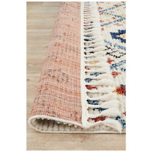 Versilia Abstract Design Ivory Blue Modern Rug Runner 80x300cm **FREE DELIVERY**
