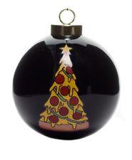 New Sourpuss Pizza Glass Bauble Christmas Tree Ornament