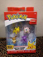 Pokemon Battle Figure Multi-Pack (Pikachu, Jigglypuff, Eevee, Sableye) NEW