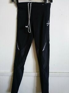 CW-X 125809A women legging tight Full Length Compression  Black Sz. S