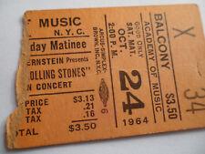 ROLLING STONES__1964__Original CONCERT TICKET STUB__Academy of Music, NYC__EX-