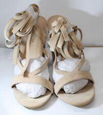 Stringati Tacco A Blocco Medio Caviglia TIE WRAP allacciati alla caviglia sandalo scarpe UK SH01 8