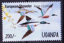 Uganda 1995 MNH, Northern Shoveler, European Shoveler, Water Birds  -D17