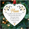 Remembrance Heart PERSONALISED Christmas Tree Decoration In Memory Mum Dad Nanny