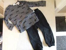 H&M bambino 9-12 mese in abbinato Maglia & Pantaloni Set O PJ'S PIGIAMA BATMAN