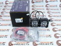 Rigid Industries D-Series Amber LED Light Pair - Hybrid/Flood 202123