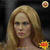 KUMIK 1/6 KM16-26 Female Head Sculpt Caving w/blonde hair Fit 12'' Figure Body