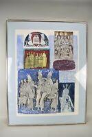 A Abraham Yakin 1945 Art Print Framed Etching Signed Judaica Torah