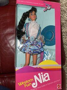 New Mattel 1989 Western Fun Barbie Nia Retired #9933 NIB