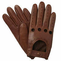 MENS CLASSIC FASHION DRIVING GLOVES SOFT GENUINE REAL LAMBSKIN LEATHER RETRO
