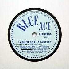 """BARNEY BIGARD'S ELLINGTONIANS """"Lament For Javanette"""" BLUE ACE 230 [78 RPM]"""