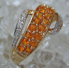 ღ♥Diamantringe in aus 14kt 585 Gold Ring Brillant Ring mit Diamanten Turmalineღ♥