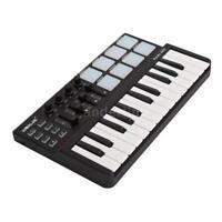 US Worlde Panda Portable Mini 25-Key USB Keyboard and Drum Pad MIDI Controller-