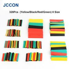 328pcs Heat Shrink Tubing Wrapping Assorted Kit Tube Sleeving Electrical Cable