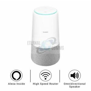 UNLOCKED HUAWEI AI Cube (B900) CAT6 300Mbps 4G/LTE WIFI ROUTER + SPEAKER + ALEXA