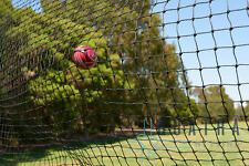 Black Cricket Net / Sports Barrier Netting 9m X 3m Ball Stop Net