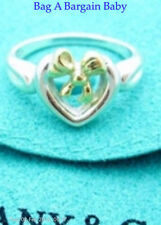 Tiffany & Co Ring Grade A 18k solid gold and 925 sterling silver Genuine  Size 6