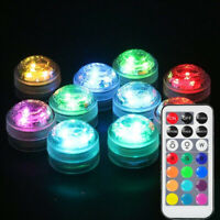 Submersible LED Waterproof Light RGB Lamp Wedding Party Fish Tank Home Decor ABS