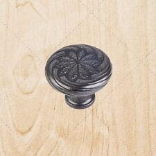 "Cabinet Hardware Knobs Wheat ku19 Black Antique knob pull 1-1/8"""