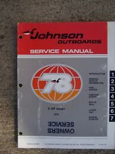 1978 Johnson 2 Hp Model 2R78 Outboard Owner Service Manual See Store For More Rr