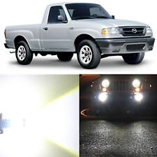 Alla Lighting Fog Light 9006 White LED Bulbs for 06~10 Mazda B2300 B4000 B3000